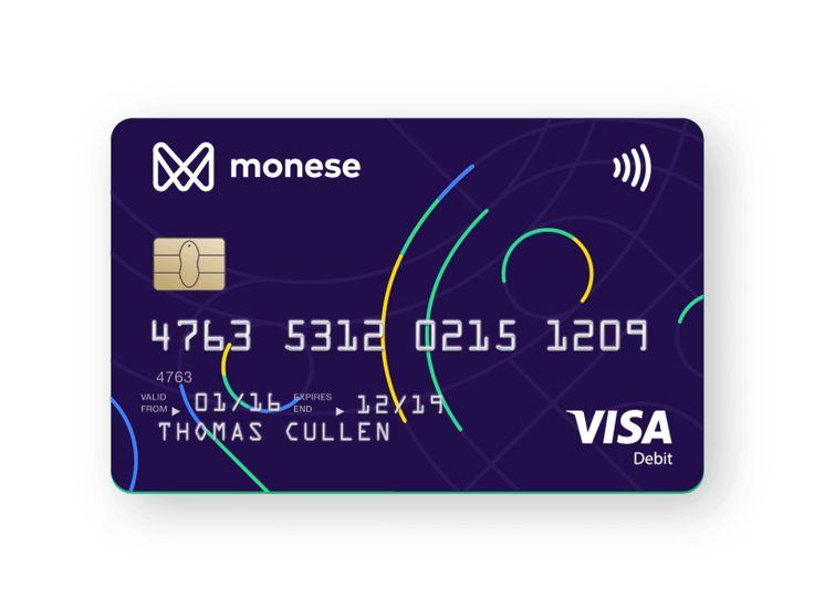 Monese's new debit card by Harry Galuszka #Design Popular #Dribbble #shots