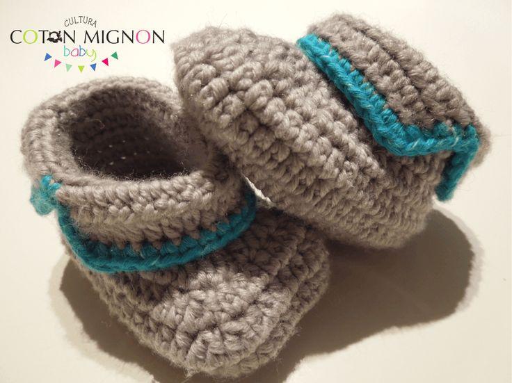 Mejores 127 imágenes de Zapatitos crochet en Pinterest   Zapatos de ...