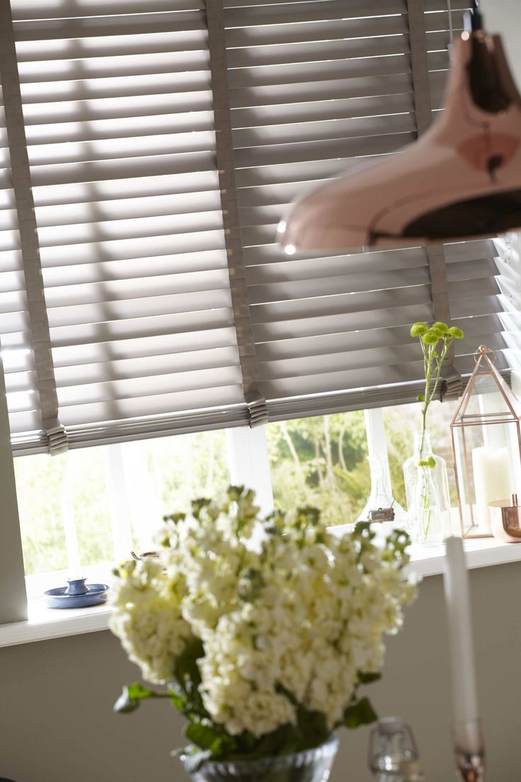 Truffle 65mm wood Venetian blind with string tape - 1250mm x 1500mm.