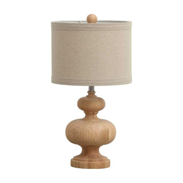 Traditional Table Lamps For Living Room Part - 29: Topped With A Cylindrical Linen Shade, This Lampu0027s Well-carved Base Is Made  Entirely Of Wood And Has A Natural Finish. From Your Nightstand To Living  Room ...