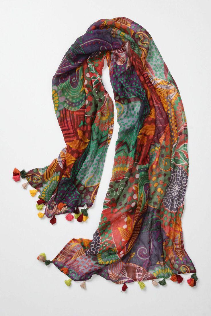 bohemian chic . . .love this scarf!