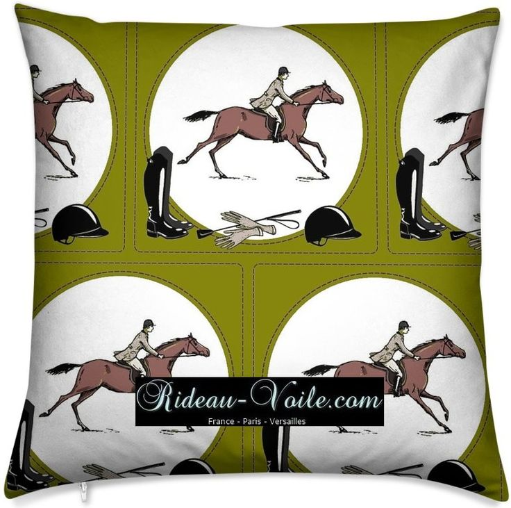 Tissu vert imprimé motif cheval chevaux #tissu#motif#cheval#chevaux#style#Empir…