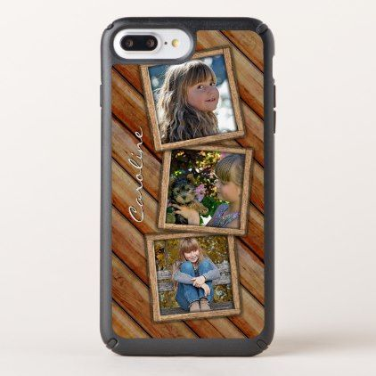 Custom Rustic Country Farmhouse Planks Pattern Speck iPhone Case - cool gift idea unique present special diy