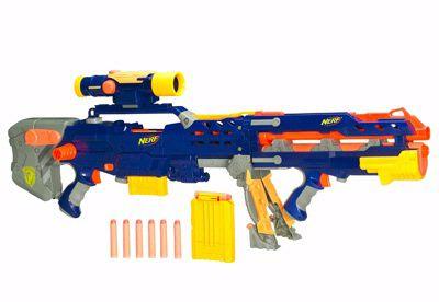 Nerf LONGSHOT CS-6 má super zaměřovadlo takže je to dobrá zbraň když střílíme do dalky ale chceme střílet přesně.