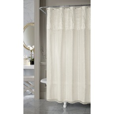 Nicole Miller Sparkle Fabric Shower Curtain - Bed Bath & Beyond