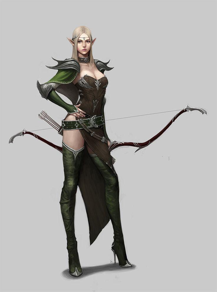 Elven archer by dimelife on deviantART