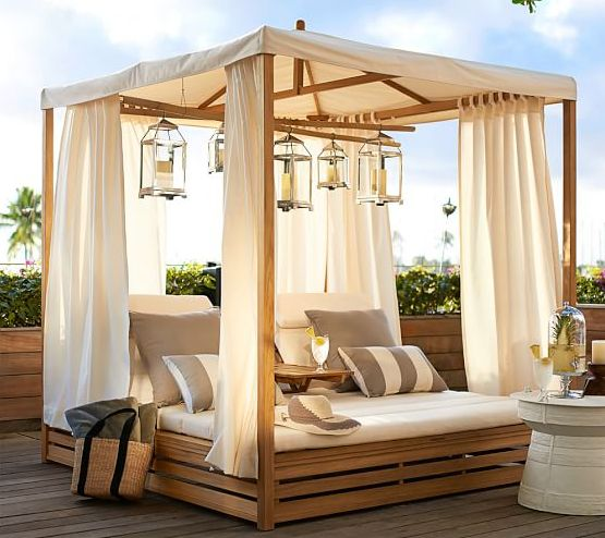 A Canopy Daybed | 32 Outrageously Fun Things You'll Want In Your Backyard This Summer