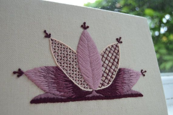 Beginner's Crewelwork Waterlily Kit by The Art of the Needle
