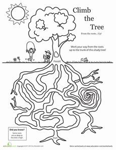 Earth day tree maze