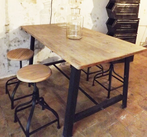 30 best images about table bois on pinterest - Table bois et metal industriel ...