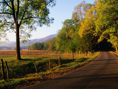 Cades Cove at Sunset, Great Smoky Mountains National Park