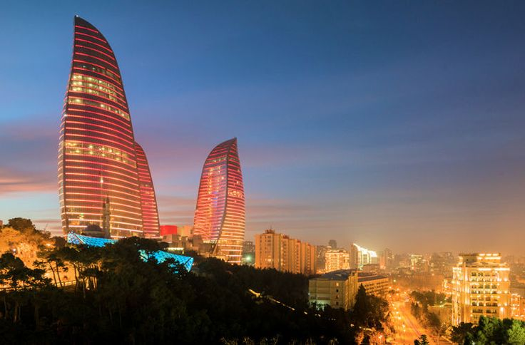 Картинки Баку (37 фото) | Небоскребы, Город, Памятники