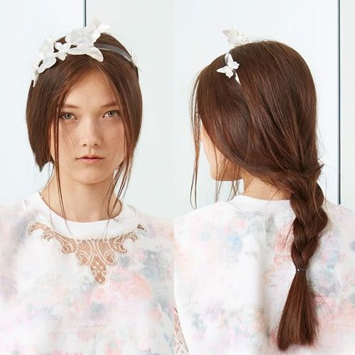 2015 hair accessories are all about adding dramatic contrast to hair. Look for metal, flowers or leather in interesting shapes and bold colors.