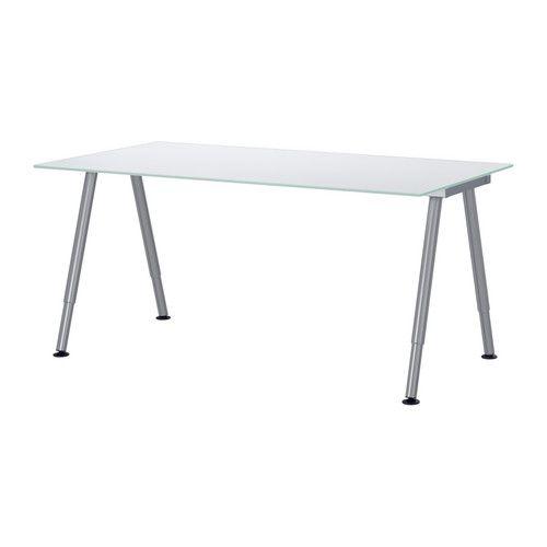 AlÄng Floor Lamp Nickel Plated Gray Glass Top Deskcloset