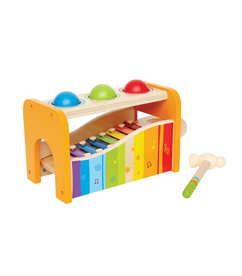 Pound and Tap Bench From Hape from The Wooden Toybox