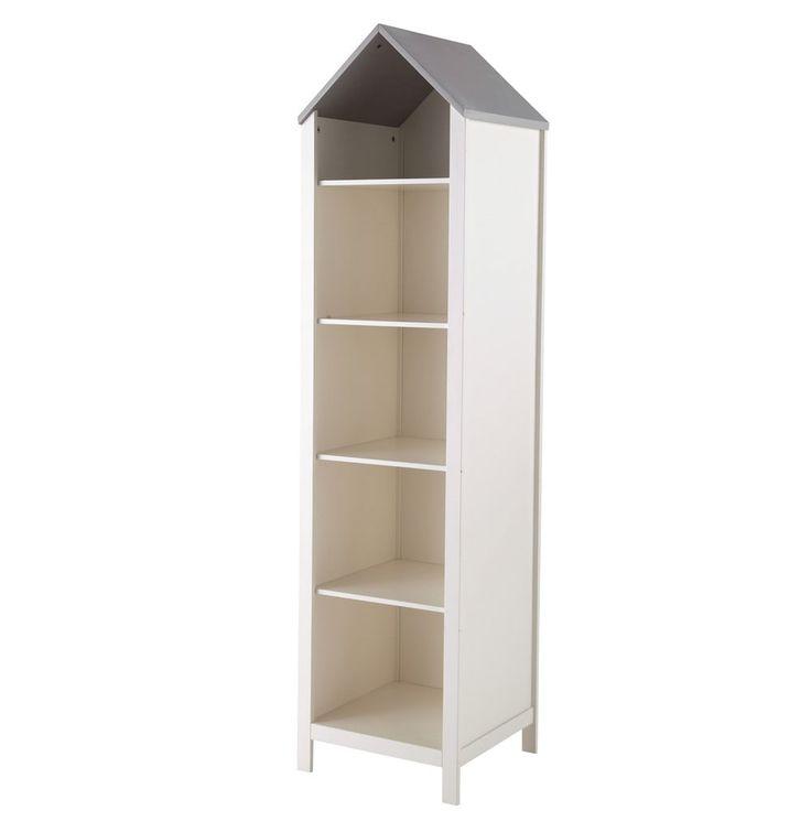 Bibliothèque maison enfant en bois blanche L 45 cm | Maisons du Monde