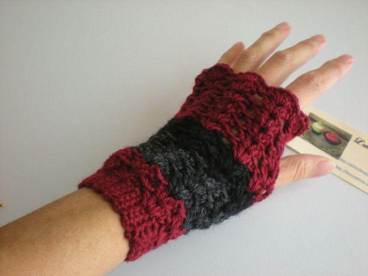 Pdf-tuto mitains au crochet/ Pdf tutorial mitones de ganchillo