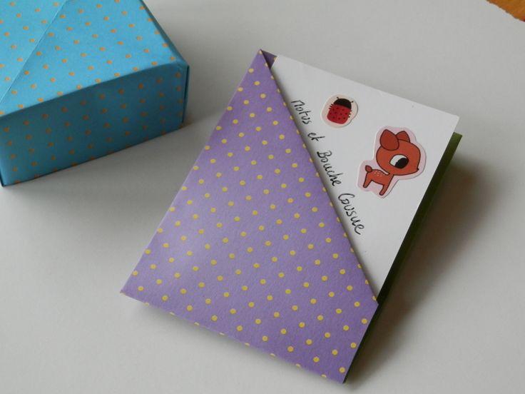 Porte-cartes de visite en papier plié ORIGAMI : Etuis, mini sacs par motus-et-bouche-cousue