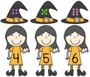 """""""Witty Witches"""" is a compilation of three literacy and three math center activities to incorporate into your fall or Halloween learning themes. The reading/literacy activities include finding rhyming word pairs, counting syllables in words, and reading simple sentences to match to the witches that are being described. The math activities include matching numerals to sets for 0 through 20, non-standard measurement practice, and visual discrimination to find differences on witches. $4.00"""
