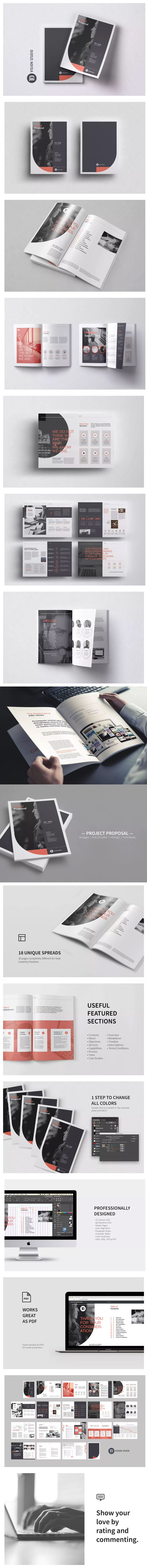 Project Proposal Brochure Template InDesign INDD
