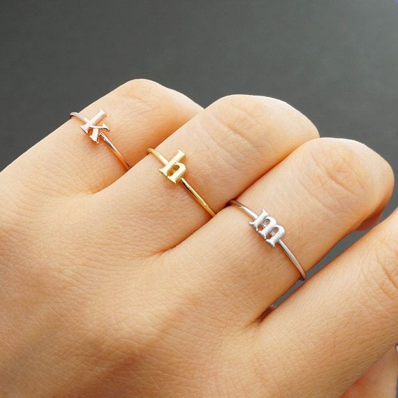 Gift the girls in your bridal party with these beautiful but budget-friendly initial rings, available in silver, gold, or rose gold. The lowercase letter lends a delicate look, and each comes ready for gifting in a charming little box.