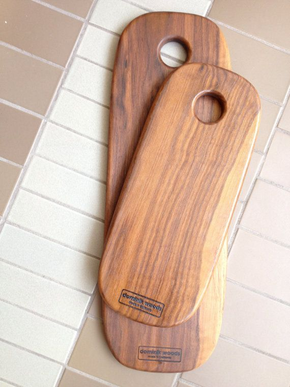 Walnut Cutting Boards  Rectangle Long Set by Dominikwoods on Etsy, $90.00