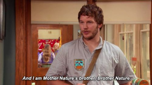 Andy Dwyer is Brother Nature ~ Parks and Recreation