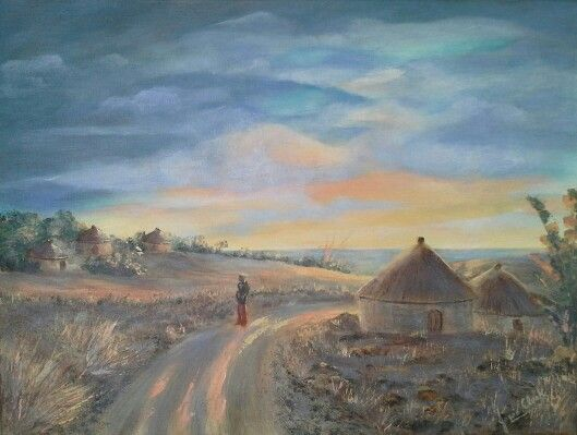 Early morning - acrylic painting by Josee Clerk