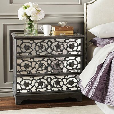 Adeline Mirrored Bedside Chest