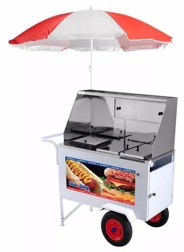 carrinho hot dog e lanche 6 cubas + chapa - armon xdlp-008
