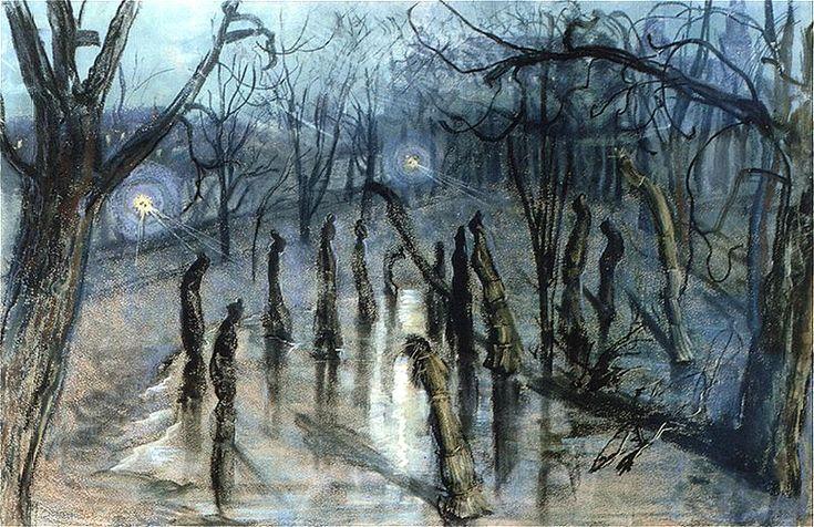 """Stanisław Wyspiański """"Chochoły (Planty nocą)"""", 1898-1899 (Muzeum Narodowe w Warszawie)"""