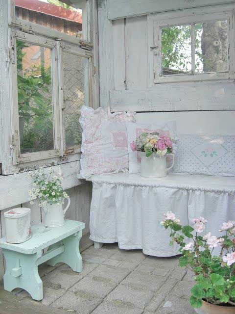 90 best shabby chic porches and yards images on pinterest for Romantic outdoor decorating ideas