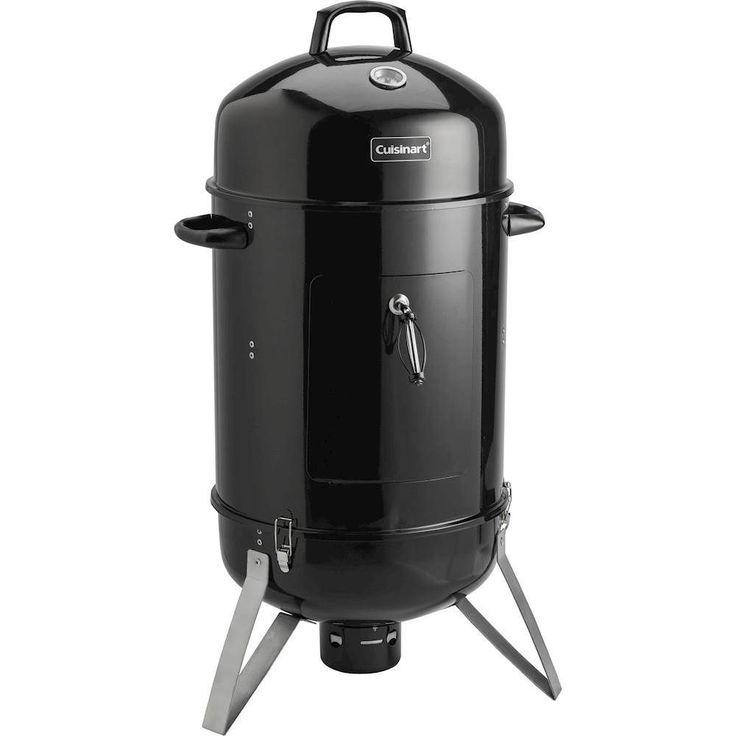 """Cuisinart - Vertical 18"""" Charcoal Smoker - Black"""