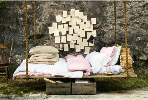 Wohnideen Selfmade palettenmöbel ideen schaukelbett holz h o m e