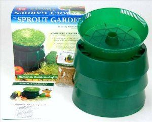 Sprout Garden 3 Tray Family Sprouting Kit - Includes: Sprouter, Drainboard, Covers, 3 Sprouting Trays, 2 Oz of Certified Organic Alfalfa Seed, Instructions. Grow Healthy Fresh Sprouts in Your Own Kitchen! by Wheatgrasskits.com. $31.95. Includes: Instructions, 4 drainboards, 3 trays & 2 Oz. Organic Alfalfa Seeds. Small footprint - uses very little counter space - Dishwasher Safe - Easy Cleanup. Durable Trays - Made In the USA - Lifetime replacement warranty. Gr...