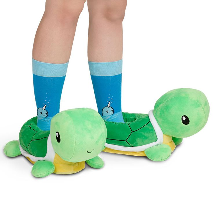 It's okay to move a little slower in the morning. Get the Turtle Slippers only at TeeTurtle!