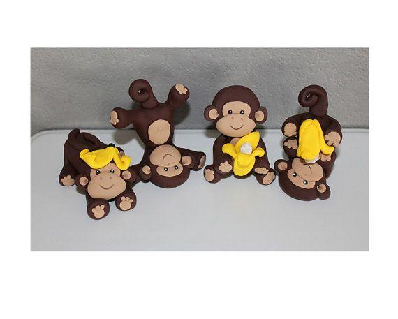 Custom Monkey Cake Topper for Birthday or Baby Shower
