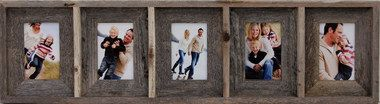 Collage Picture Frame - 4x6 With 5 Openings, Barnwood