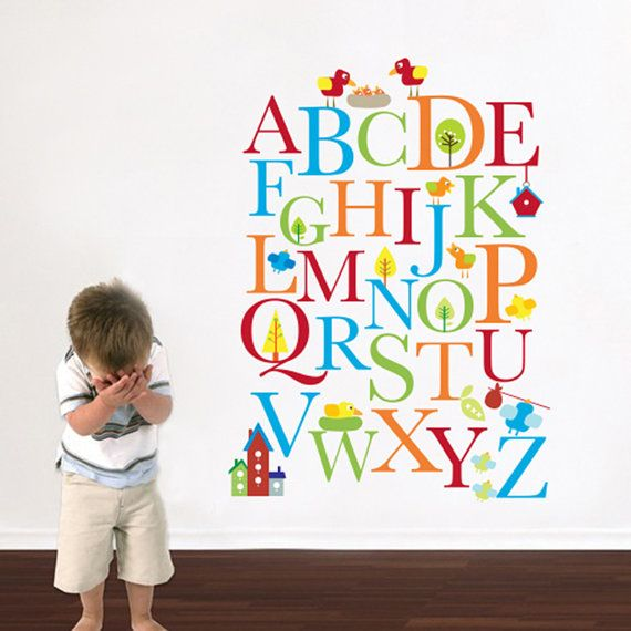 Alphabet Nursery Wall Decal   Playroom Wall Decal   Educational Wall Decal    Play Room Wall Decal   Custom Decal Wall Graphics (Pattern On Etsy, Sold Part 45