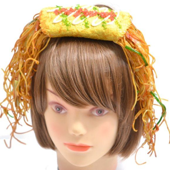 Japanese shop Fake Food Hatanaka is selling fake food accessories for your hair. Prices start at around $30 and go up from there.