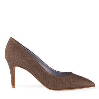 Pantofi dama negri 2451 piele naturala perlata