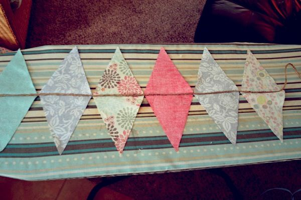 No sew fabric pennant, I would cut the edges with pinking sheers