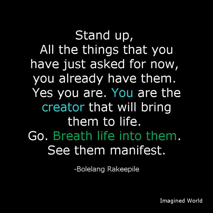 You're the #creator of what you want. #Manifest them. @Sebata  http://imaginedworld.co.za pic.twitter.com/3PUnMxzxc8