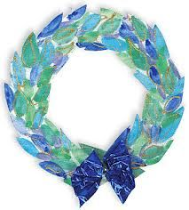 christmas wreath art lesson - Google Search