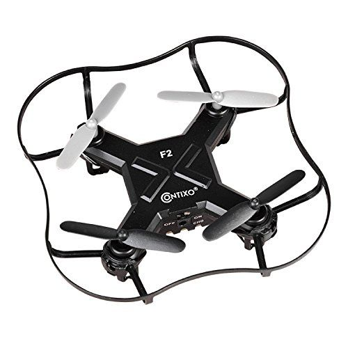 BLACKFRIDAY - Contixo Mini Pocket Drone 4CH 6 Axis Gyro RC Micro Quadcopter with 3D Flip Intelligent Fixed Altitude (Black)