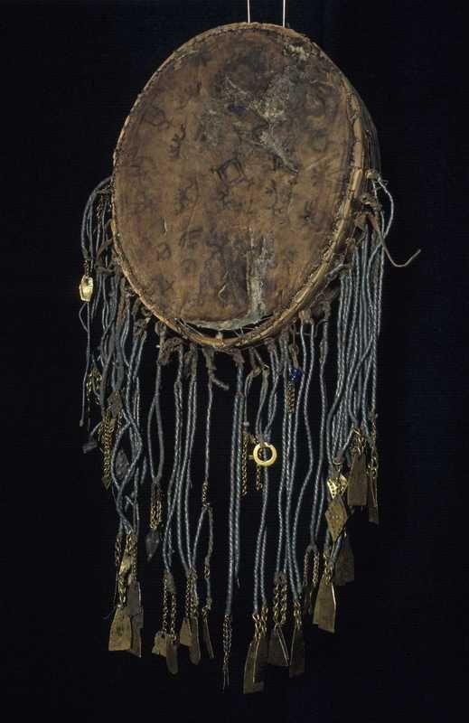 Samisk runebomme, Gievri, Gievrie, Rumbu. Framedrum, Hand drum. Bindal, Nordland, Norway.