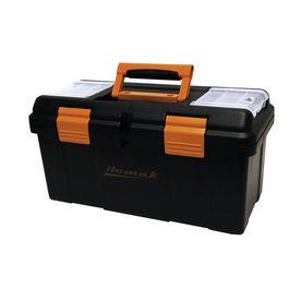 Homak 19.375-In Black Plastic Tool Box Bk00119005