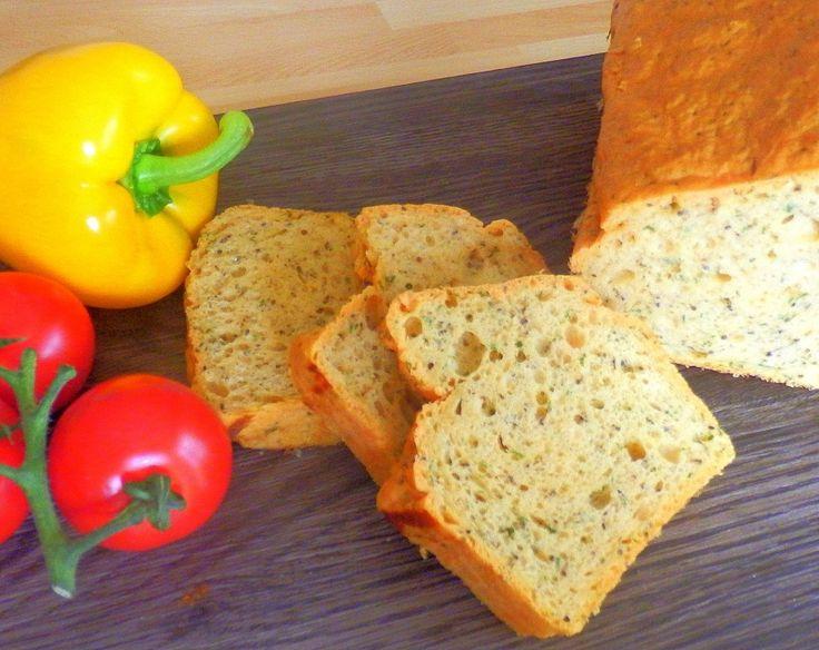 Gesundes Brot aus rotem Linsenmehl - gluten- und zuckerfrei - healthy bread made with red lentil flour - gluten- and sugar free