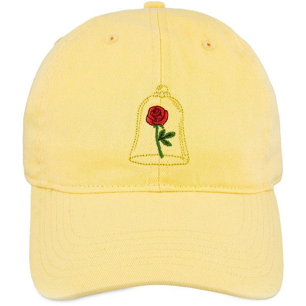 Beauty and the Beast Enchanted Rose Baseball Cap for Adults ($22) ❤ liked on Polyvore featuring accessories, hats, ball cap, rose hat, baseball hat, rosebud hats and ball cap hats