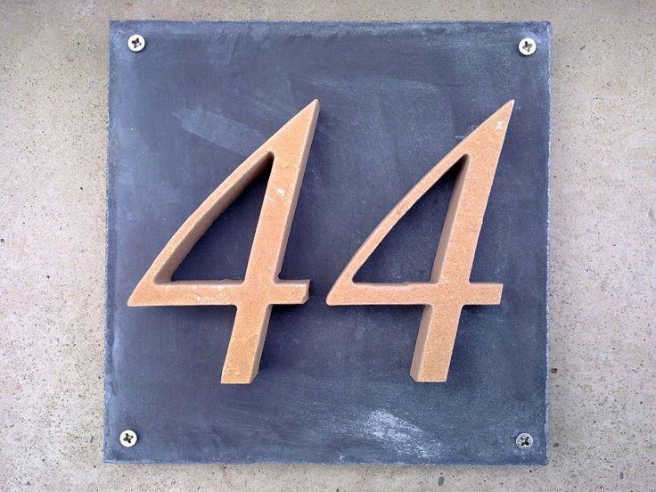 Hausnummer aus Stein - Haus, Garten, Zaun, Briefkasten, Haustür, Klingel